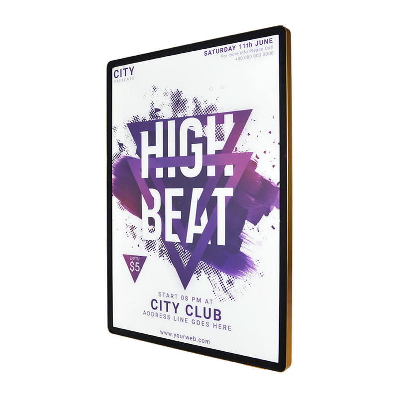 Ultra thin poster frame
