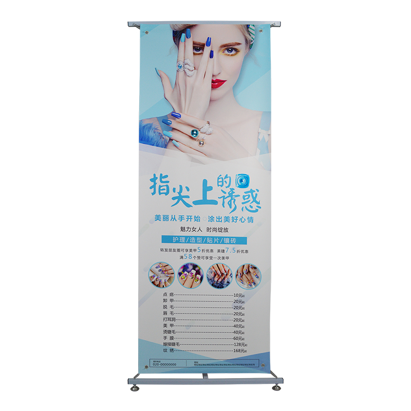 L shape advertising stand