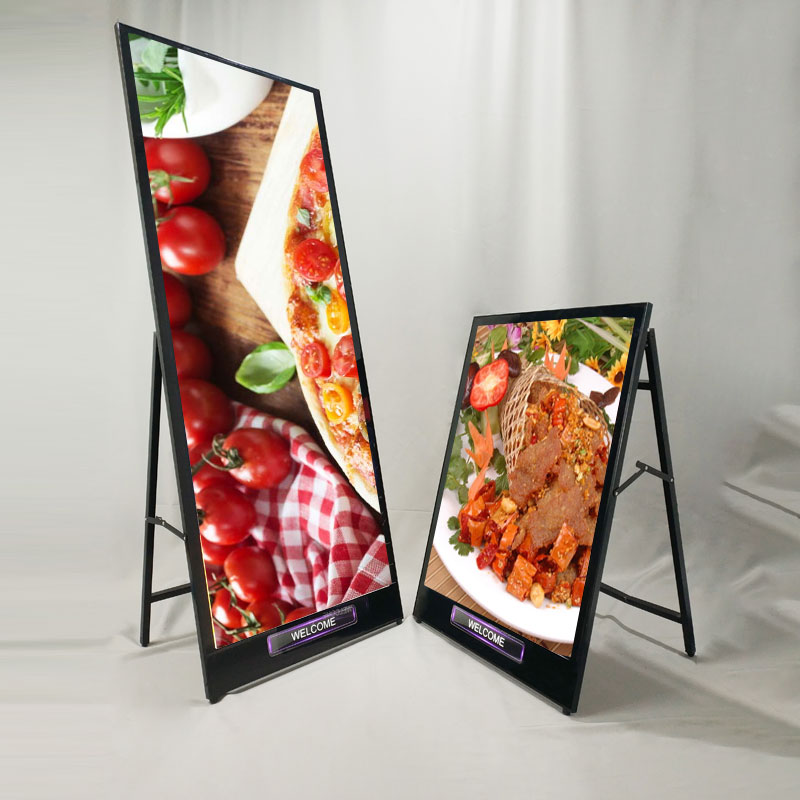 Indoor folded portable on floor light box