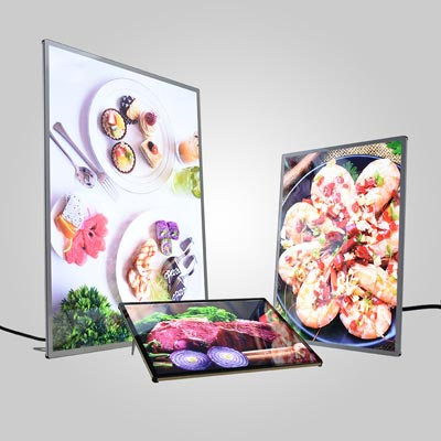 Ultra thin glass light box